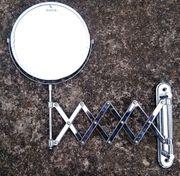 Kosmetikspiegel ausziehbar mit Vergrößerungspiegel