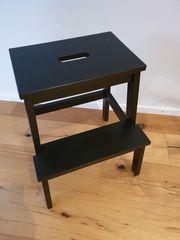 Ikea Hocker in schwarz