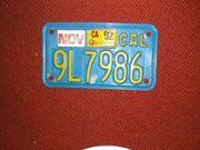 US Nummernschild Motorrad