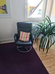 Leder Sessel Ikea - schwarz