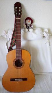 Sehr schöne 3 4-Oscar-Teller-Konzertgitarre mit