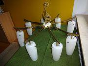 8 armige Messing Glaslampe