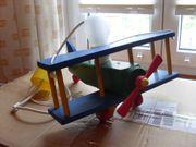 Kinderzimmerlampe Doppeldecker Flugzeug Holz