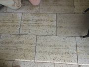 Terrassenplatten in Travertinoptik