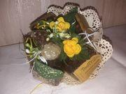 Teetruhe Strauß Blumenstrauß mit Teebeutel