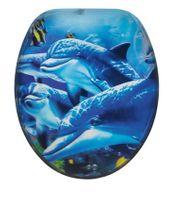 WC-Sitz Delfine mit 3D-Effekt blau
