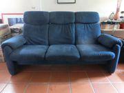 3-Sitzer - blau gepolstert - zu verschenken