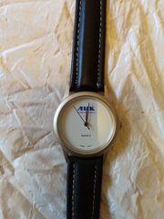 AHK-Herren-Armbanduhr ungetragen Quartz Sekundenzeiger Stahlboden