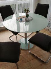 Esstisch rund Glastisch mit 4