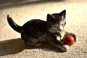 Rarität Katze mit Ball Original