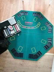 Casino Pokertisch Pokerauflage Holzverstärkt klappbar