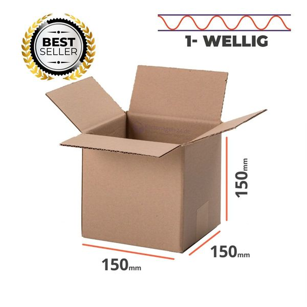 Faltkarton 150x150x150mm Verpackung 20 Stück