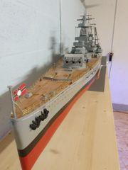 RC-Modellschiff A Graf Spee Holzbauweise