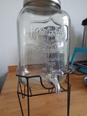 Saft- Limonaden- Wasserspender aus Glas