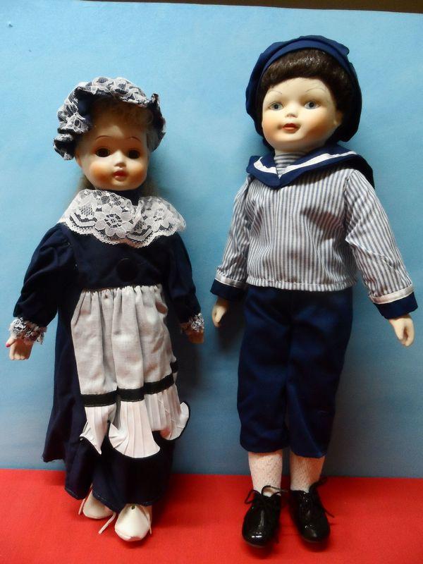 Nostalgie Puppen neu Porzellan Kopf -