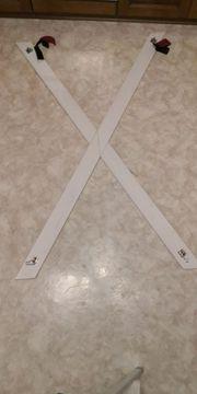 Andreaskreuz in Weiß