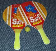 BEACH-BALL Schläger-Set mit Ball - 2x Schläger