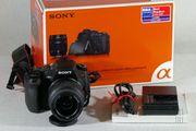 Sony DSLR-A350 SLR-Digitalkamera mit dem