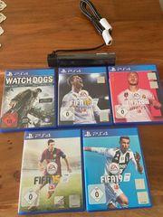 PlayStation 4 Spiele und Kamera