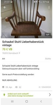 Schaukelstuhl vintage oldschool shabby chick
