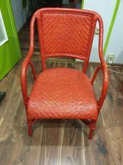 Stuhl Vintage Rot