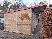 Außenbox Pferdestall Pferdebox Weidehütte Weideunterstand