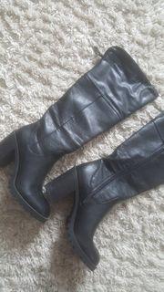 Schuhe Gr 40 Overknee Stiefel