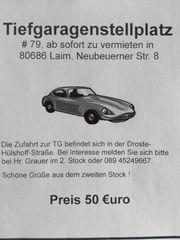 Stellplatz in Tiefgarage München Laim