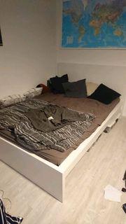 IKEA Malm Bettgestell hoch 140