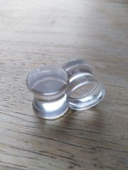 ACRYL KLAR OHR PLUGS 10MM