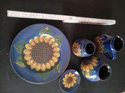 Keramik Set Sonnenblumen