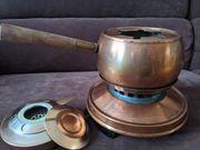 Vintage Fondue Set aus Kupfer