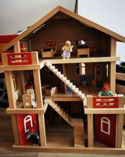 Puppenhaus Holz 3 stöckig