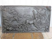 Relief Bild Guß Jagtszene