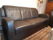 Leder Couch in braun - 3-Sitzer