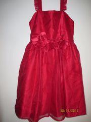 Elegantes rotes Mädchenkleid - neu