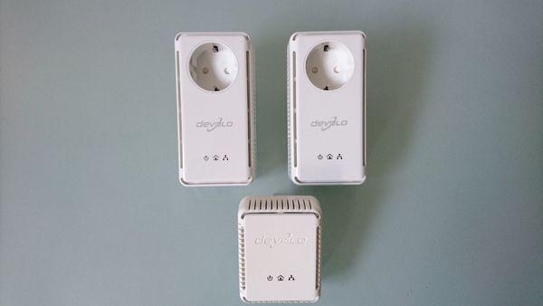 Devolo dLAN 200 Adapter Set (3 Stück) - Netzwerk aus der Steckdose weiß