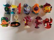 Ü-Eier Figuren Aqualand komplettmit Beipackzetteln
