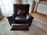 Ledergarnitur Sofa Sessel Hocker Relaxsessel