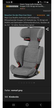 MaxiCosi Kindersitz RodiFix graphite Autositz