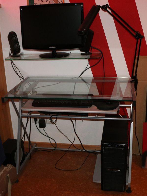 Glas Schreibtisch