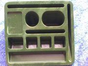 Stiftebox - Stiftebehälter - Kunststoff - grün - eckige Form