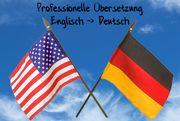 Professionelle Übersetzungen Englisch - Deutsch
