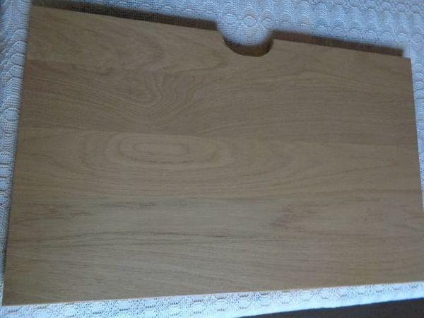 Regal-Einlegeboden mit Kabeldurchlaß Eiche sand