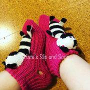besondere getragene Socken