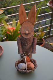 Osterdekoration Hase aus Holz mit