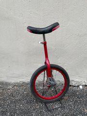Rotes Einrad 16 Zoll gebraucht