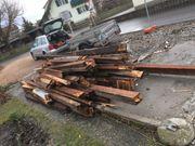 Holzbalken Brennholz