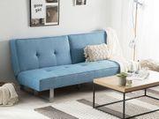 Schlafsofa Polsterbezug blau 190 cm