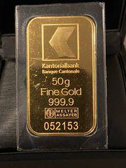 Goldbarren Sammlerbarren 50 g Kantonalbank